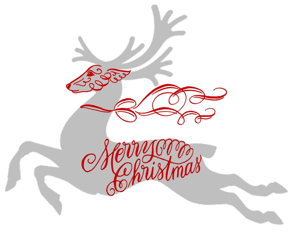 Step 1: Making a Flourished Calligraphy Reindeer