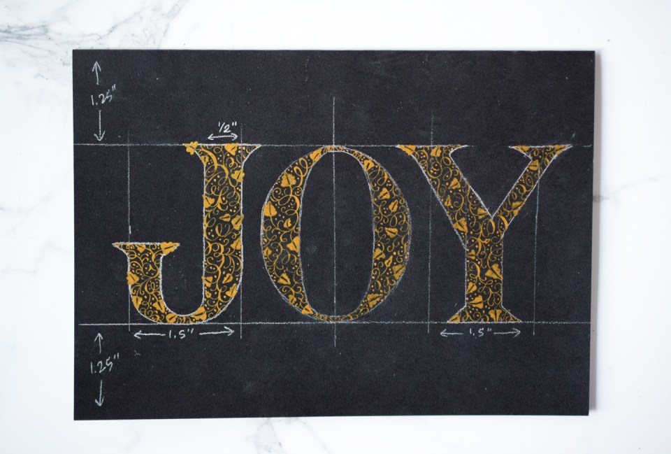 """Filling in the """"Y"""" of the """"Joy"""" Card"""
