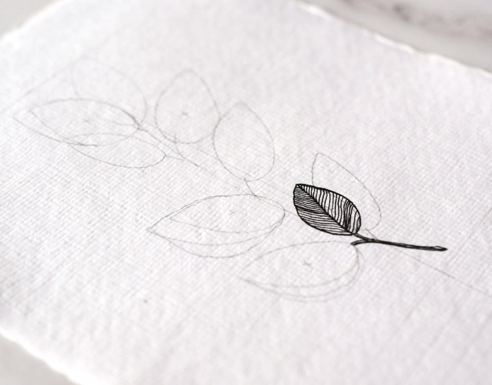 Adding Ink to the DIY Sympathy Card