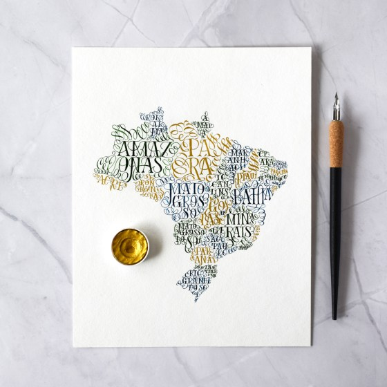 Lasso lettering is great when incorporated into artwork like this!