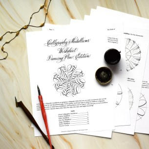 This worksheet is designed to improve your handle of the dip pen and teach you how to create some fabulous designs!