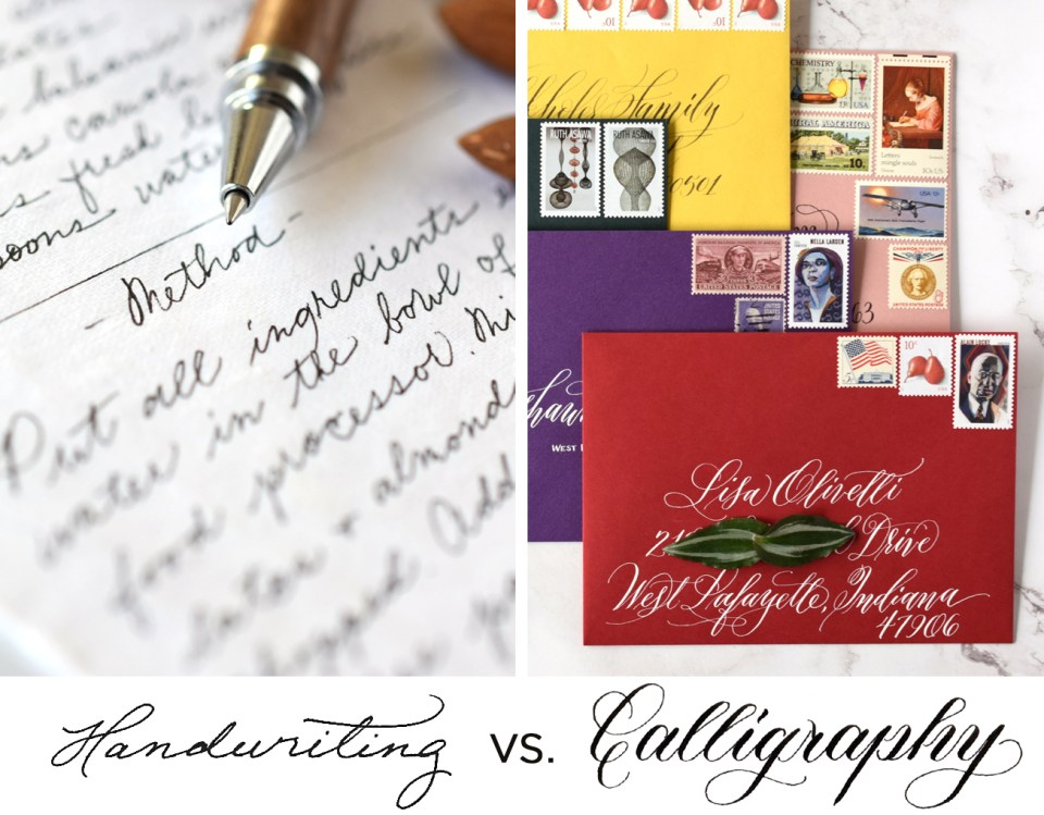What's the Difference Between Handwriting and Calligraphy?