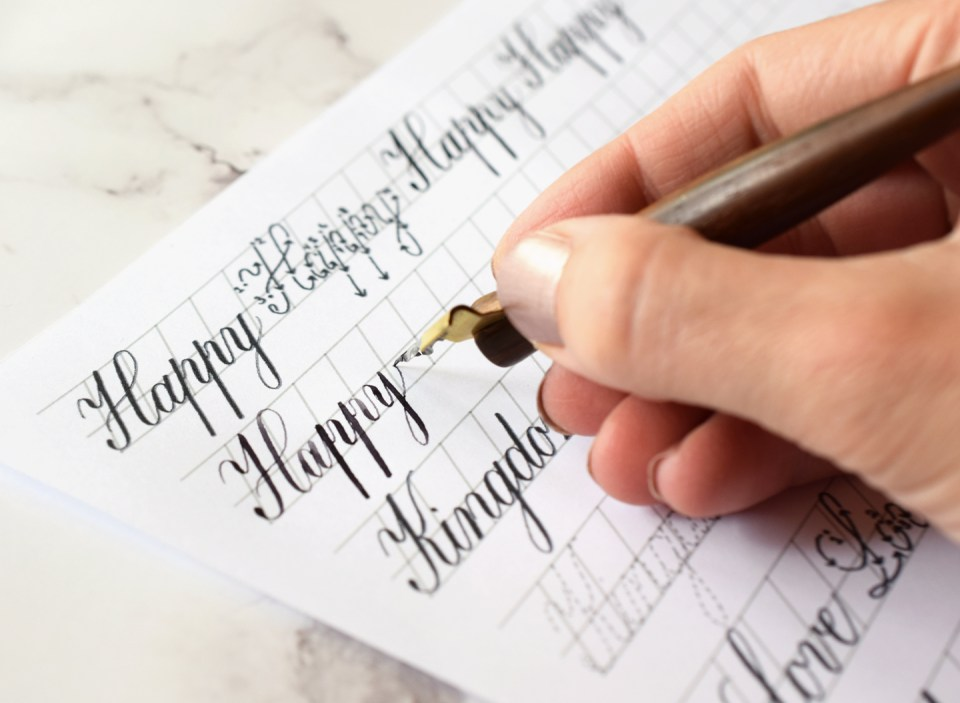 Limited Edition Copperplate Worksheet