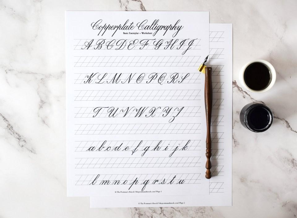 Basic Copperplate Worksheet
