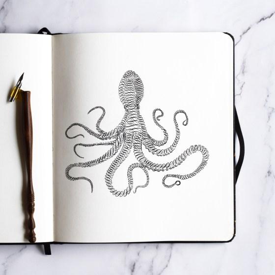 Octopus Calligraphy Art Tutorial
