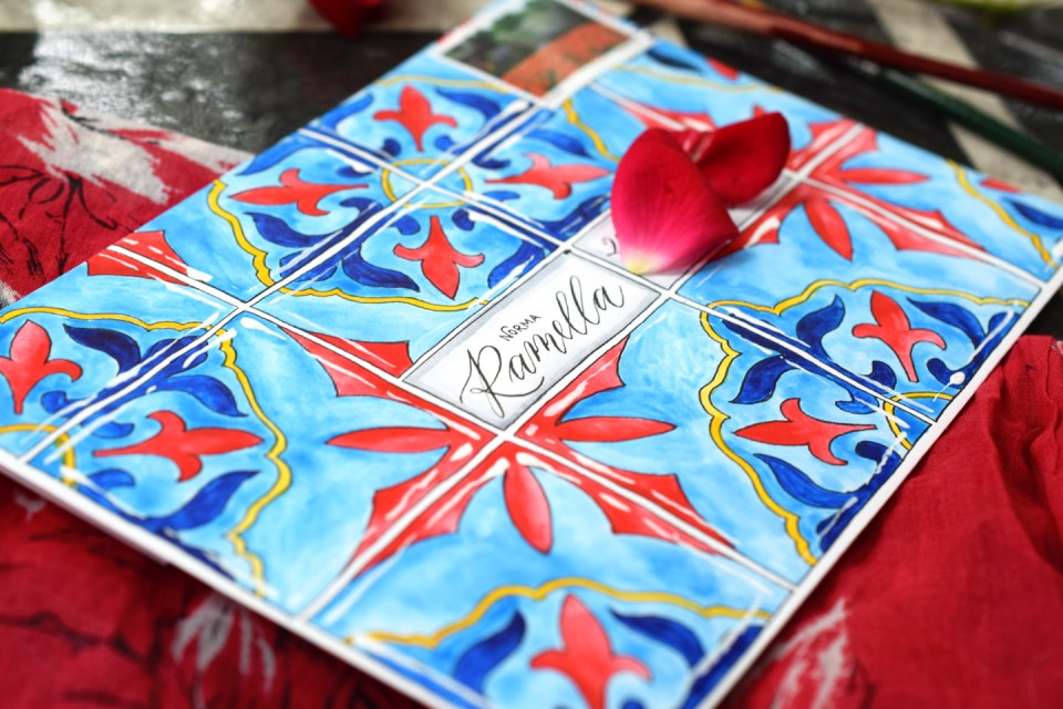 Glazed Watercolor Tiles Mail Art Tutorial