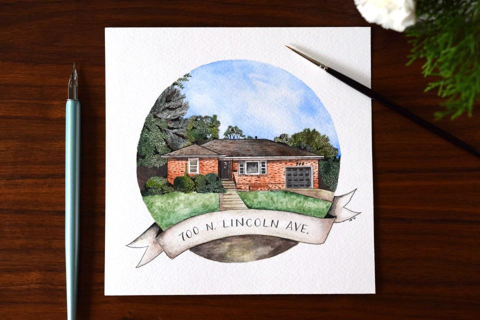 Watercolor House Portrait Tutorial