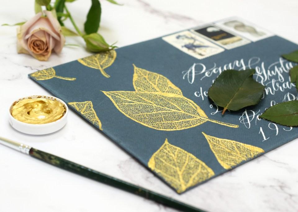 Stunning + Simple Filigree Illustrated Leaf Tutorial