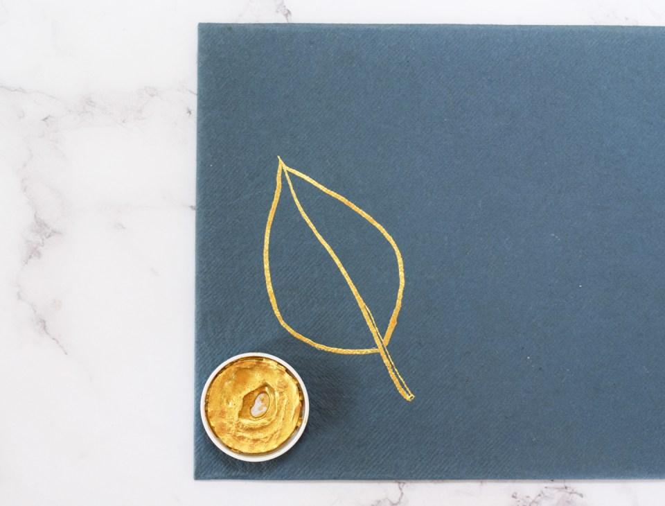 Gold Leaf Outline