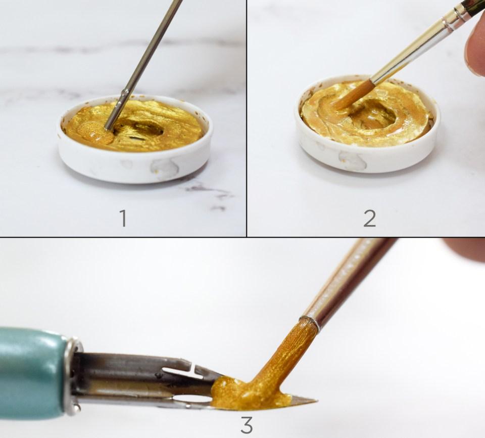 Using Finetec Arabic Gold Watercolor