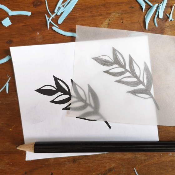 Cut out the branch portion of the printable and trace over it on tracing paper.