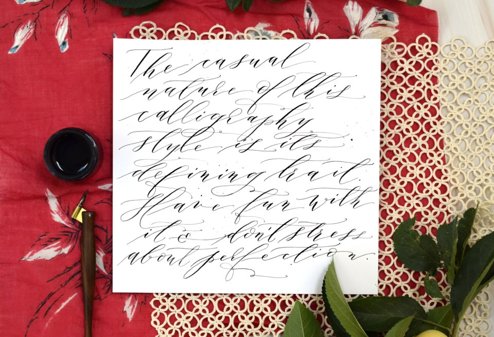 Cocktail Casual Calligraphy