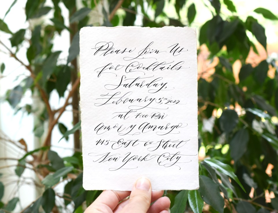 FREE Cocktail Casual Calligraphy Teaser Worksheet