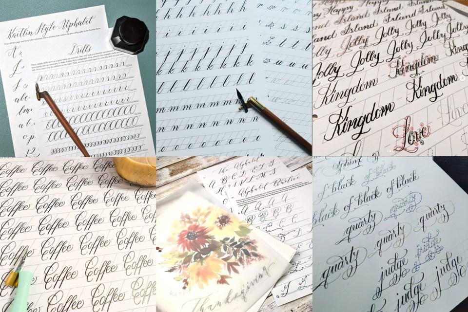 Instagram Calligraphy Worksheets Photos