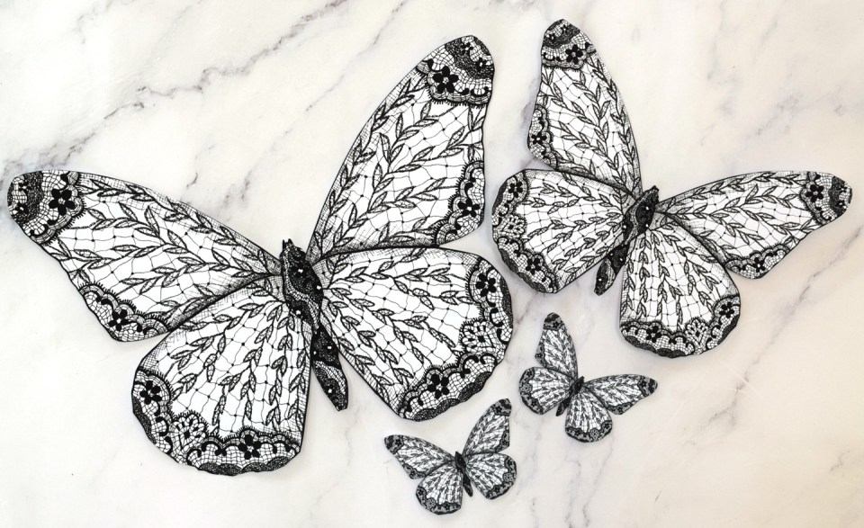 Lace Butterfly Illustrations