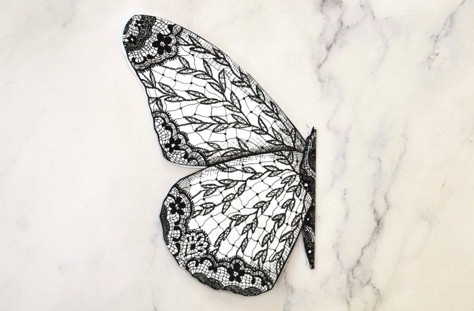 Folded lace butterfly