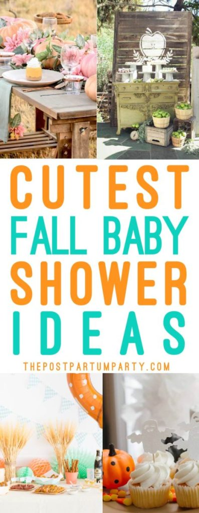 Fall baby shower collage ideas