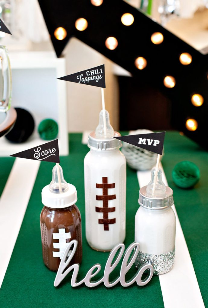 football party decorations for sip and see