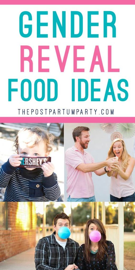 gender reveal food ideas collage
