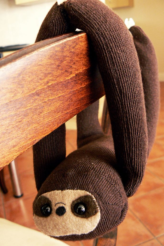 DIY sloth sock