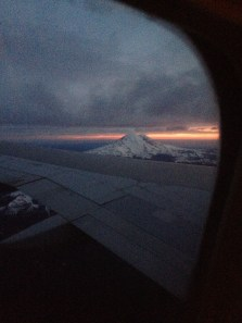 Heading in to Seattle from a long flight across the US