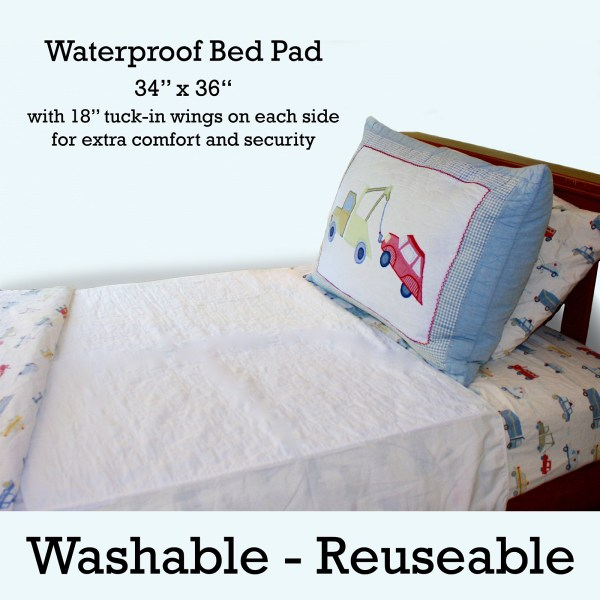 Wet-Stop mattress pad protects against bed wetting