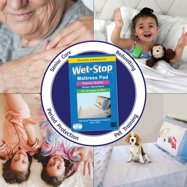 Wet-Stop mattress pad offers protection for seniors, children, menstruation, even pet accidents.