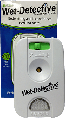 Wet-Detective alarm unit and packaging