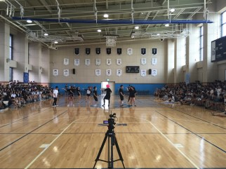 First pep rally lead by STUCO.