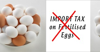 Import duty on fertilised eggs scrapped