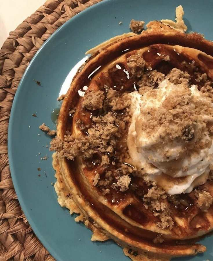 One point Peanut Butter Waffle