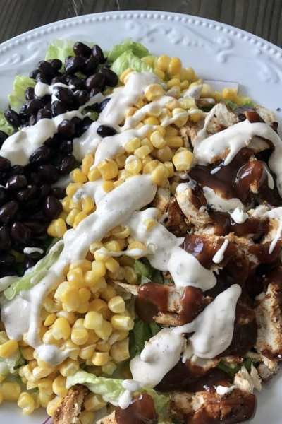 Skinny BBQ Chicken Salad