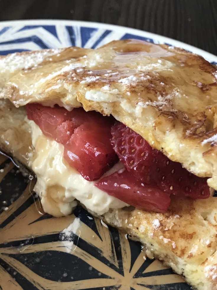 Cheesecake Stuffed French Toast