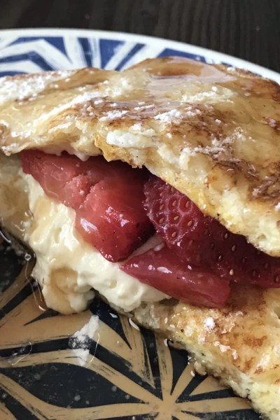 Cheesecake Stuffed French Toast