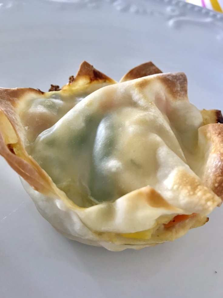 Chicken Pot Pie Wontons