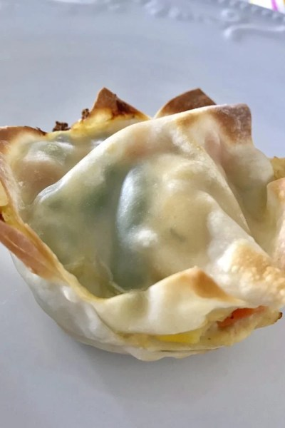 Chicken Pot Pie Wontons