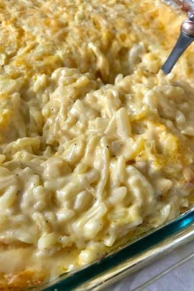 Cheesy Skinny Hashbrown Casserole