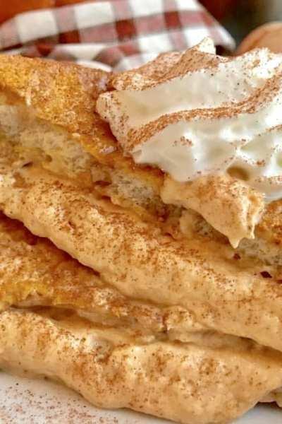 PumpkinCream Cheese Stuffed French Toast