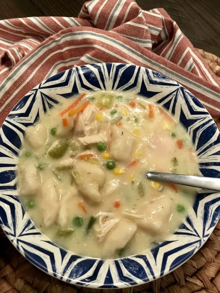 Lightened Chicken and Dumplings Soup