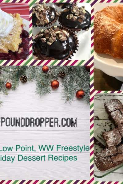 Easy, Low Point, WW Freestyle Holiday Dessert Recipes