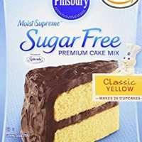 Pillsbury sugar free yellow cake mix