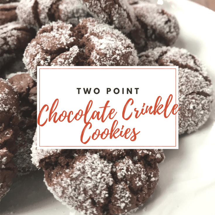 Easy Two Point Chocolate Crinkle Cookies