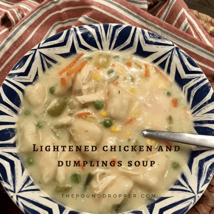 Lightened Chicken and Dumplings Soup
