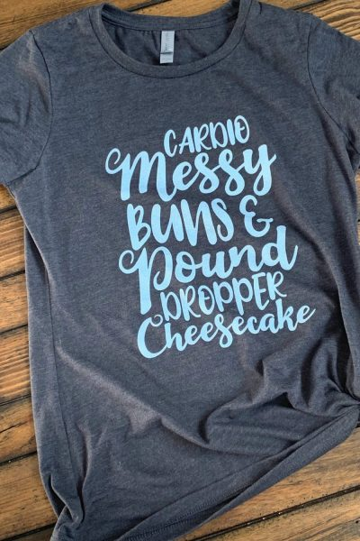 """Cardio, Messy Buns, & Pound Dropper Cheesecake"""