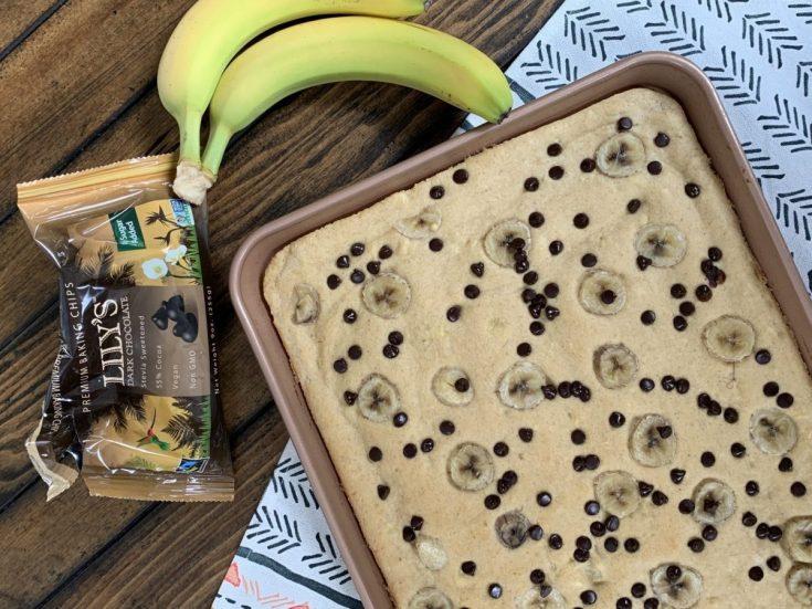 Banana Chocolate Chip Sheet Pancakes