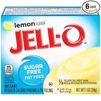 JELL-O Instant Lemon Pudding & Pie Filling (1 oz Boxes, Pack of 6)