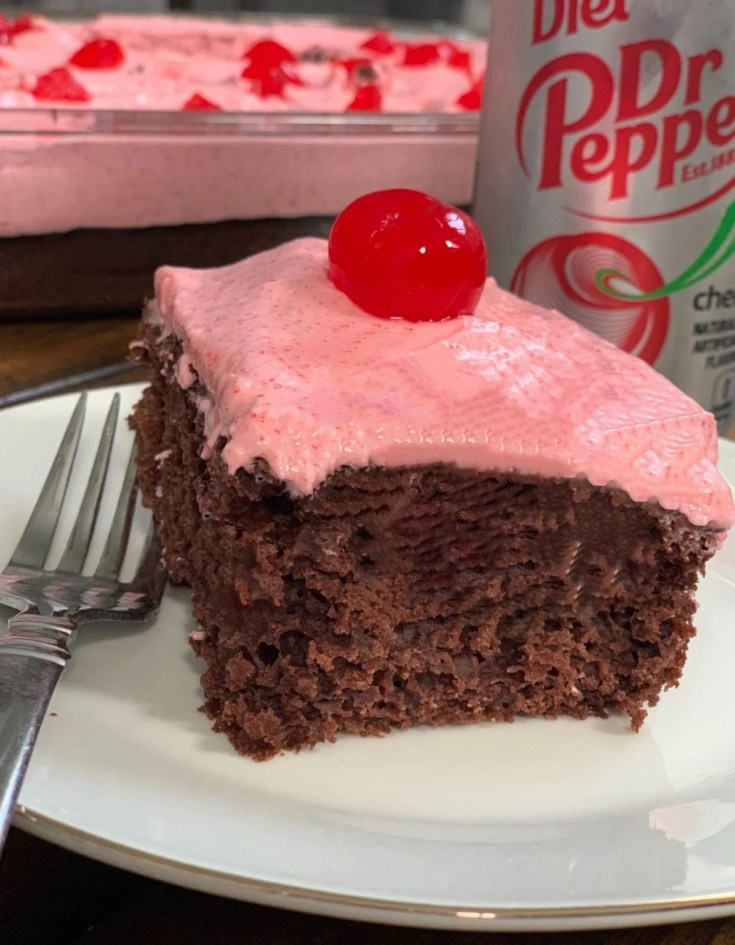 Skinny Cherry Dr Pepper Chocolate Cake