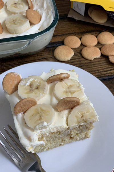 Lightened Up Banana Cream Cake