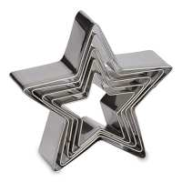 5 pcs Stainless Steel Five-pointed Star Cookie Cutter