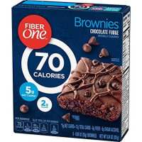 Fiber One Brownies, 70 Calorie Bar, 5 Net Carbs, Snacks, Chocolate Fudge, 6ct